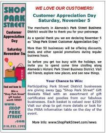 Customer Appreciation, Park Street Business District