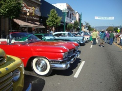 Downtown Alameda Classic Car Show on Park Street