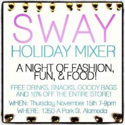 Sway Holiday Mixer in Alameda