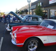 Park Street Classic Car Show line-up in Alameda