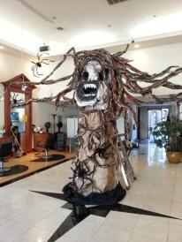 Halloween display at We Are Hair, Alameda