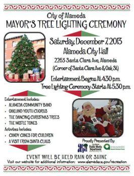 Alameda Mayor Holiday Tree Lighting Ceremony