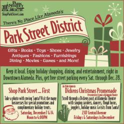 Park Street Alameda Holiday Santa