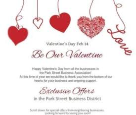 Valentine Offers from Alameda's Park Street businesses