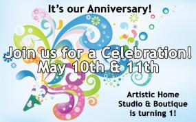 Artistic Home Studio & Boutique in Alameda, 1-Year Anniversary