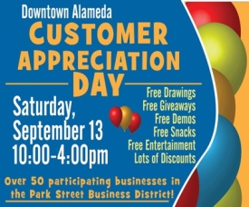 Customer Appreciation Day 2014, Park Street, Downtown Alameda