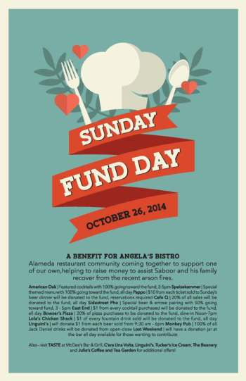 Sunday Fund Day Alameda for Angela's Bistro