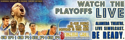 Warriors NBA Playoffs at Alameda Theatre