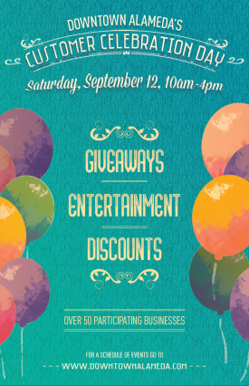 Downtown Alameda Customer Celebration Day 2015 poster