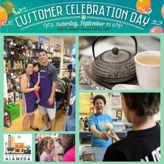 Downtown Alameda Customer Celebration Day collage