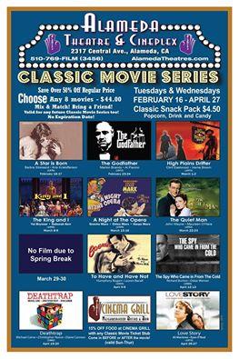 Alameda Theatre Spring 2016 Classic Movie Series