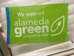 AMP Alameda Green sticker