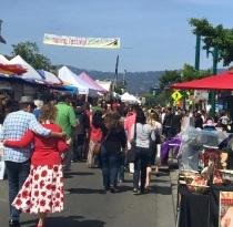 Downtown Alameda Spring Festival street scene