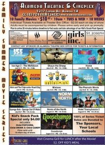 Alameda Theatre 2016 Kids Movie Series