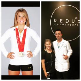 American Gymnast Shawn Johnson at Redux Cryotherapy