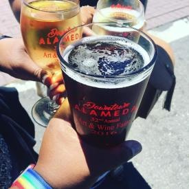 Beer and Wine at Downtown Alameda Art & Wine Faire