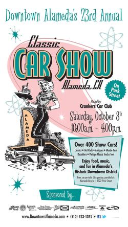 Downtown Alameda Classic Car Show 2016 poster
