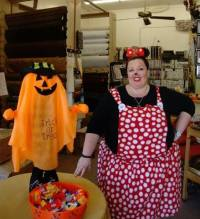 Downtown Trick or Treats at C&M Upholstery