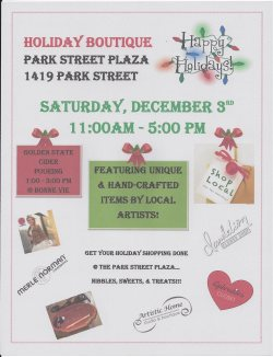 Park Street Plaza holiday boutique 2016
