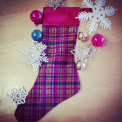 The Sewing Room holiday stocking