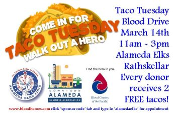 Downtown Alameda Elks Blood Drive