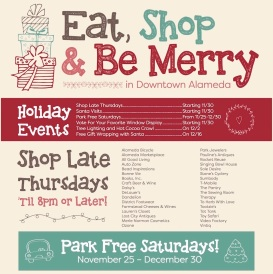Holiday Activities in Downtown Alameda